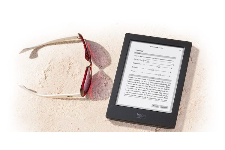 Kobo Aura H2O - Interface