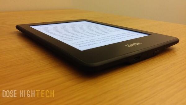 Vue latérale Kindle Paperwhite 2013