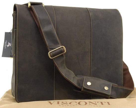 Sac en cuir pour ordinateur Visconti
